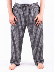 Black and White Check Cotton Baggy Pajamas
