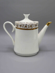 24 Pcs Gold and White Tea Set