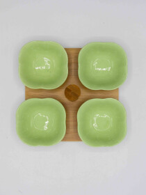 4 Pcs Green Olive Set