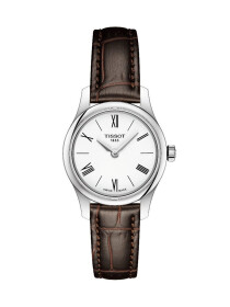 Tradition Quartz White Dial Brown Leather Strap Women's Watch