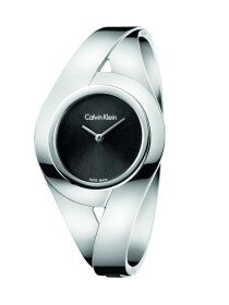 Sensual Quartz Black Dial Silver Metal Bracelet Women's Watch