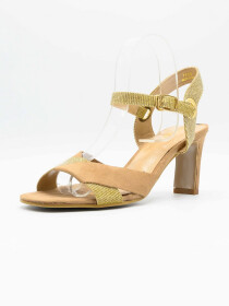 Queen Beige Women Heels