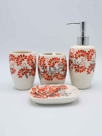 Multi Color Fancy 4 Pcs Bath Set