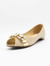 Aleeza Gold Women Pumps