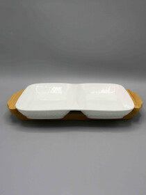Partition Dish with Stand