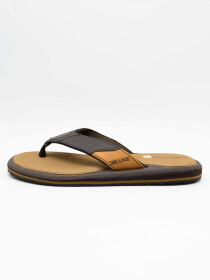 LA-CH Brown Men Flip-Flops