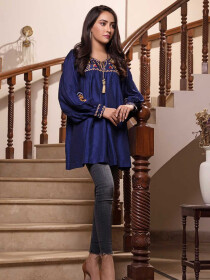 Kyanite Embroidered 1 Pc Stitched Kurti