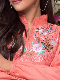Opalite Embroidered 1 Pc Stitched Kurti