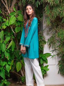 Glacier Embroidered 1 Pc Stitched Kurti