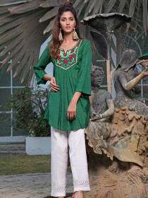 Rainforest Embroidered 1 Pc Stitched Kurti