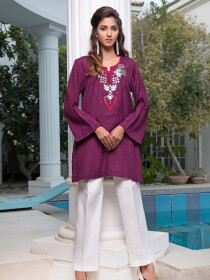 Alaska Embroidered 1 Pc Stitched Kurti