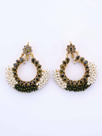 Gajra Kundan Earrings