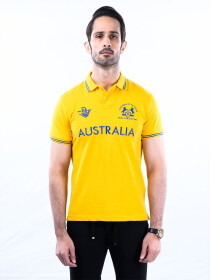 Nabeel & Aqeel Spartan Champions Of The World Polo Shirt Cool Yellow