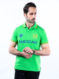 Nabeel & Aqeel Spartan Champions Of The World Polo Shirt Green