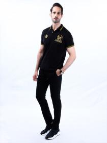 Nabeel & Aqeel Spartan Champions Of The World Polo Shirt Black