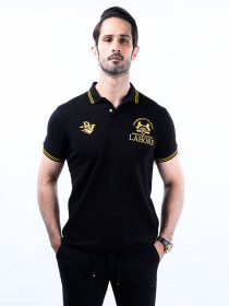 Nabeel & Aqeel Spartan Champions Of The World Polo Shirt Black