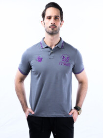 Nabeel & Aqeel Spartan Champions Of The World Polo Shirt Grey