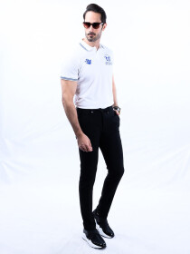 Nabeel & Aqeel Spartan Champions Of The World Polo Shirt White