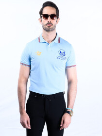 Nabeel & Aqeel Spartan Champions Of The World Polo Shirt Ice Blue