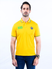 Spartans Polo Shirt Triple Three Yellow