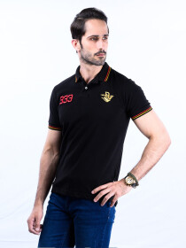 Spartans Polo Shirt Triple Three  Black