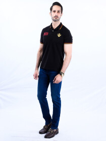 Nabeel & Aqeel Spartan The Gayle Polo Shirt Polo Black