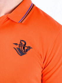 Spartans Polo Shirt Triple Three Orange