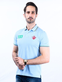 Nabeel & Aqeel Spartan The Gayle Polo Shirt Polo Ice Blue