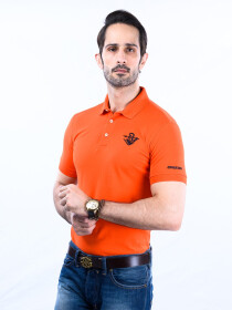 Nabeel & Aqeel Spartan Signature Polo Shirt Orange