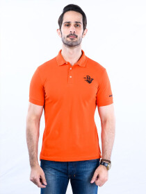 Nabeel & Aqeel Spartan Signature Polo Shirt Orange