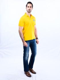 Nabeel & Aqeel Spartan Signature Polo Shirt Yellow