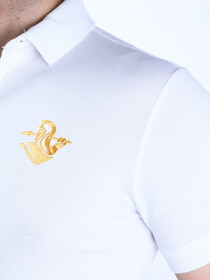 Game of Spartans Polo Shirt White