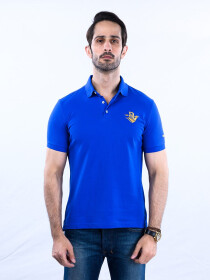 Nabeel & Aqeel Spartan Signature Polo Shirt Royal Blue