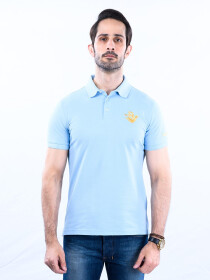 Nabeel & Aqeel Spartan Signature Polo Shirt Light Blue