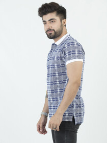 Multi Textured Polo Shirt