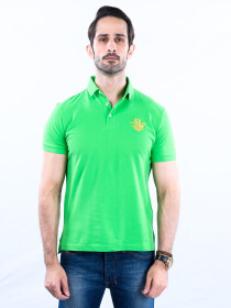 Nabeel & Aqeel Spartan Signature Polo Shirt Green