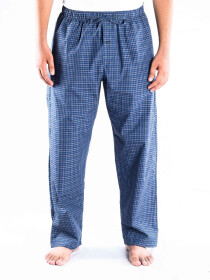 Teal and Blue Check Cotton Baggy Pajamas