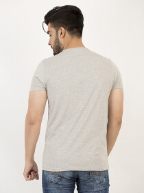 Basic Grey Panda Logo V-neck  Shirt