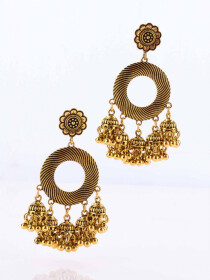 Round Multi Jhumki Earrings