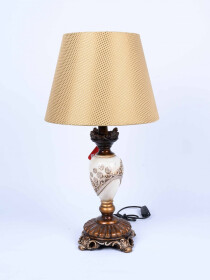 Ceramic Lamp with shade Pair
