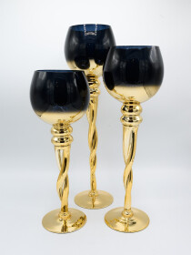 Candle Holder Glass Set/3