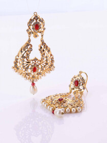 Hyderabadi Navaratan Earrings