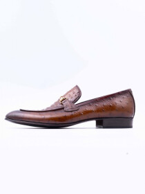 Dark Brown Cow Leather Slip-Ons for Men
