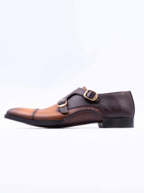 Cow Leather Monk Shoes for Men