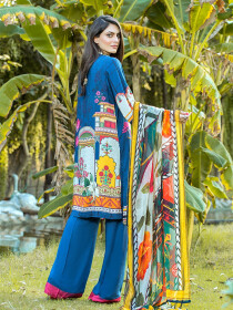 Azaad Blue 3 Piece Unstitch