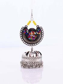 Rajisthani Multi Beads Jhumka