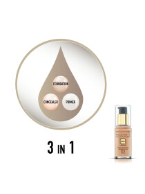 Max Factor Facefinity All Day Flawless, Liquid Foundation, 3 in 1, 055 Beige, 30 ml