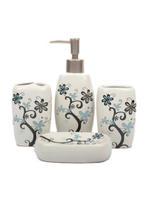 Ceramic Bathroom Set 4pcs