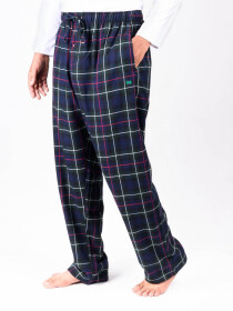 Green and Blue Check Flannel Relaxed fit Pajamas for Winter
