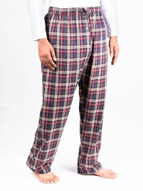 Grey and Red Check Flannel Relaxed fit Pajamas for Winter